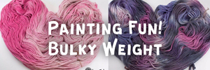 Painting Fun - Hand Dyed Alpaca Yarn from A to Z Alpacas