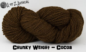 Cocoa Chunky Weight Alpaca Yarn Made in Canada