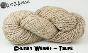 Taupe Chunky Weight Alpaca Yarn Made in Canada