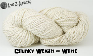 White Chunky Weight Alpaca Yarn Made in Canada