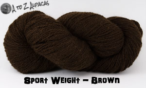 Dark Brown Sport Weight Alpaca Yarn - Made in Canada