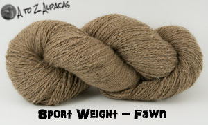 Fawn Sport Weight Alpaca Yarn - Made in Canada