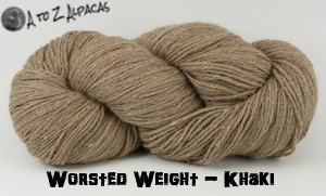 Khaki  Worsted Weight Alpaca Yarn - Made in Canada