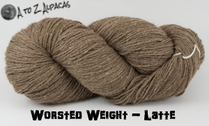 Latte  Worsted Weight Alpaca Yarn - Made in Canada